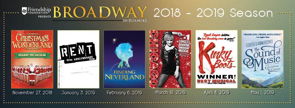 Broadway in Roanoke 2018-19 Season