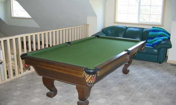 Pool Table in the upstairs loft