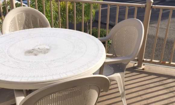 Table on the deck