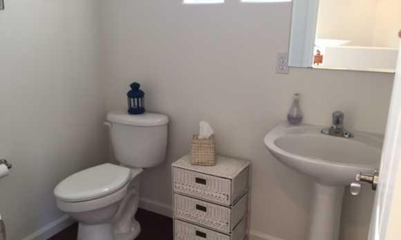 Upstairs half bathroom