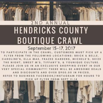 Hendricks County Boutique Crawl 2017
