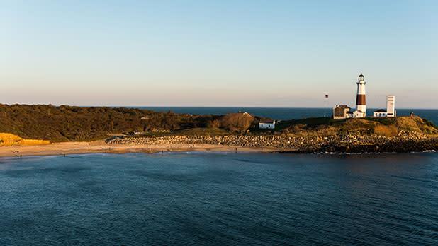 Montauk Lighthouse on Atlantic Coast of Long Island