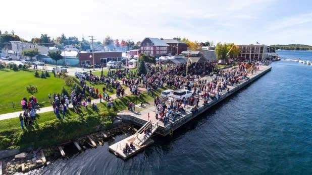 Crowd at Punkin' Chunkin' at Clayton Marina
