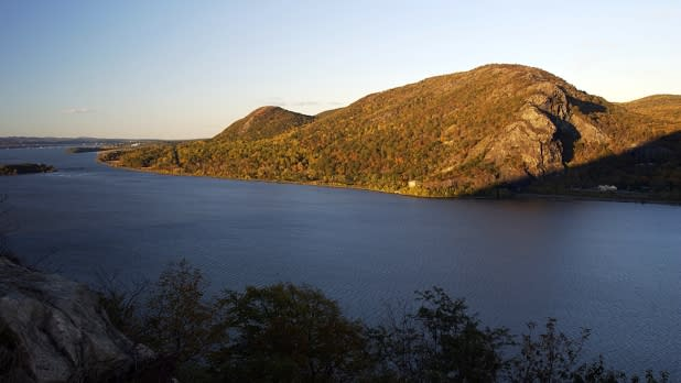 View of Breakneck Ridge on the Hudson River from Storm King Mountain