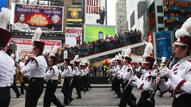 Marching Band Playing at Macy's Thanksgiving Day Parade