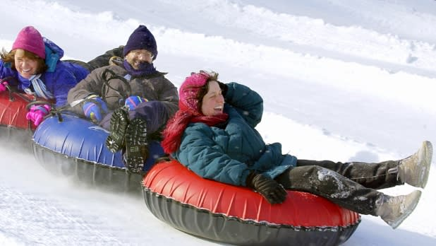 Snow Tubing in Hunter Mountain - Photo by NYS ESD
