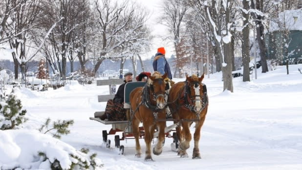 Sleigh ride lakeside- Chautauqua Institution