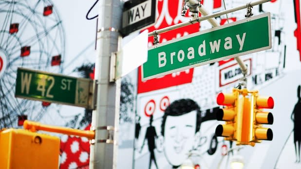Broadway sign NYC
