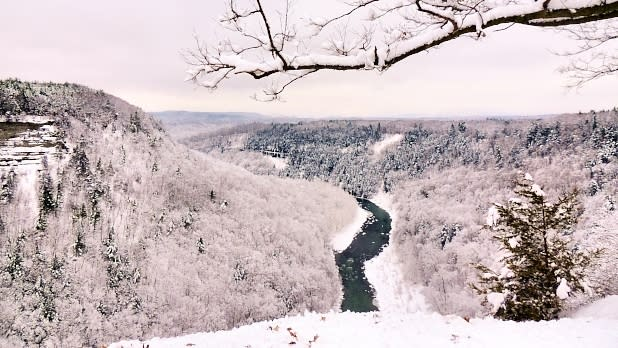 Letchworth State Park Covered in Snow