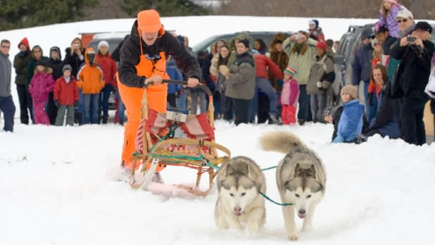Dog Sledding at Ganondagan's Native American Winter Games