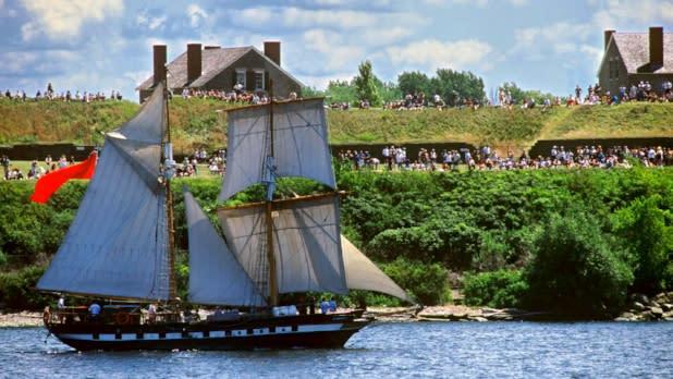 Fort Ontario during Harborfest in Oswego