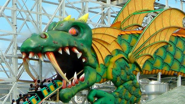 Playland Dragon Coaster in Hudson Valley