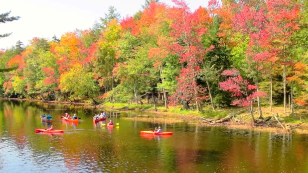 Tickner's Canoe Rentals on the banks of the Moose River