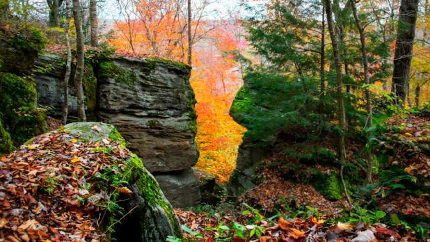 Panama Rocks and fall foliage in Chautauqua County