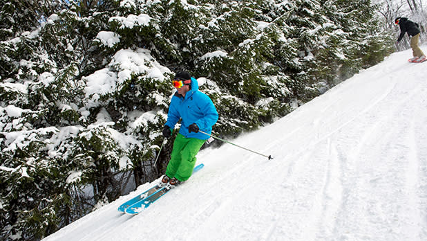 Man Skiing in Holiday Valley