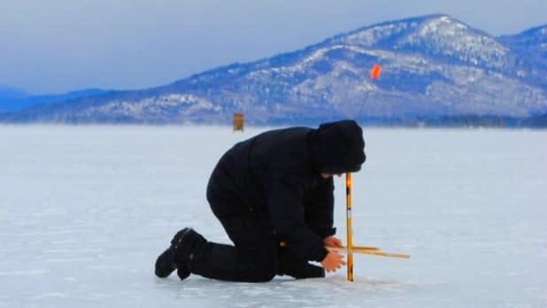 Warren County Ice Fishing - Photo Courtesy of Warren County