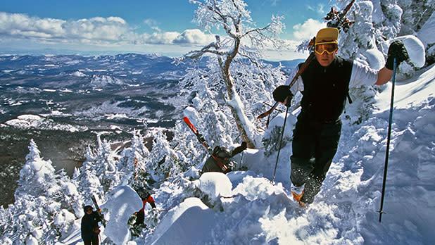 Man Hiking Whiteface Mountain