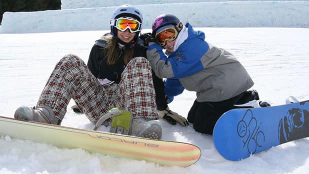 Snowboarding Couple at Hunter Mountain