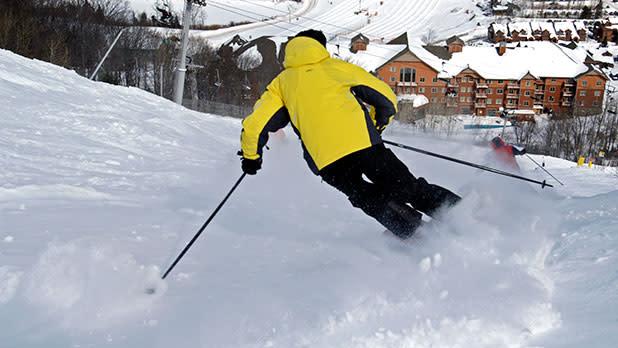 Skier at Hunter Mountain