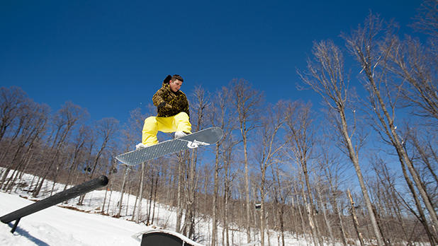 Snowboarder at Gore Mountain