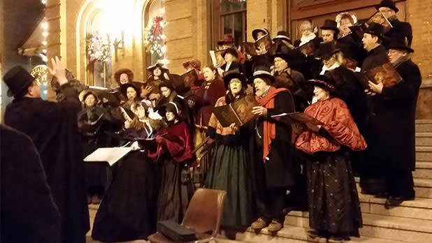 Carolers at The Victorian Street Walk and Tree Lighting Ceremony