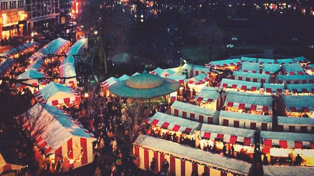 Ariel View of the Union Square Holiday Market