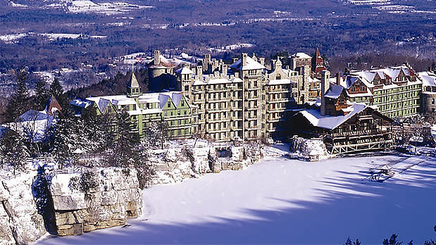 Outside View of the Mohonk Mountain House
