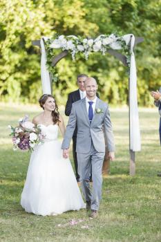 Mild Fall Days Make Wonderful Outdoor Weddings (Erika Brown Photography)