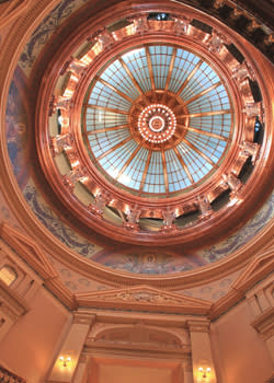 Looking up in the Kansas Statehouse in Topeka