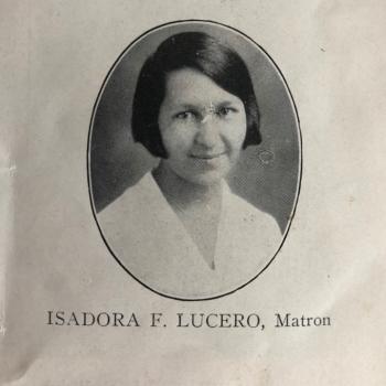 Isadora Lucero (Isleta Pueblo); first supervisor for the Tewa Weavers Shop