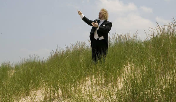 Indiana Dunes Symphony Concert Conductor in the grass