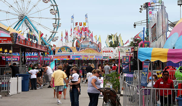 Lake County Fair with ferris wheel and concession stands