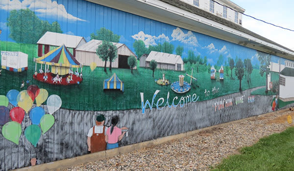 Jeanette Jaskula Mural at Newton County Fair
