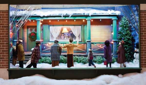 "A Major Award window display from ""A Christmas Story"" in Hammond, Indiana"