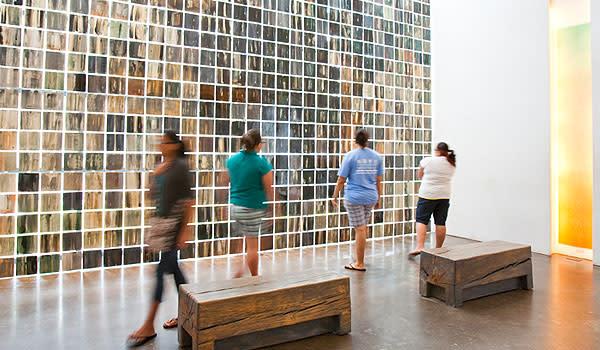 Hallway in Holocaust Museum Houston
