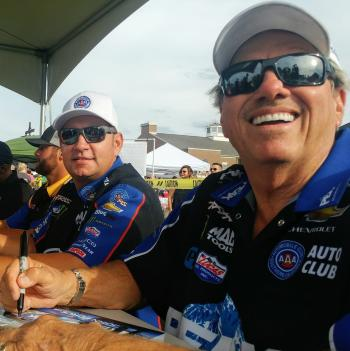 Meet NHRA drivers like Robert Hight and John Force at the Big Go Block Party on Aug. 21! (Photo courtesy of The Big Go Block Party Facebook page)