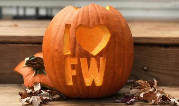 I Heart Fort Wayne Pumpkin