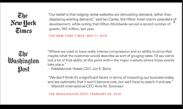 Airbnb hotel quotes