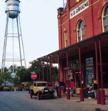 Historic Gruene, Texas. Photo by Gruene Convention & Visitors Bureau.