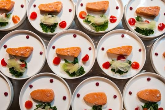 Plates from RAW: almond pop-up restaurant in Manitoba