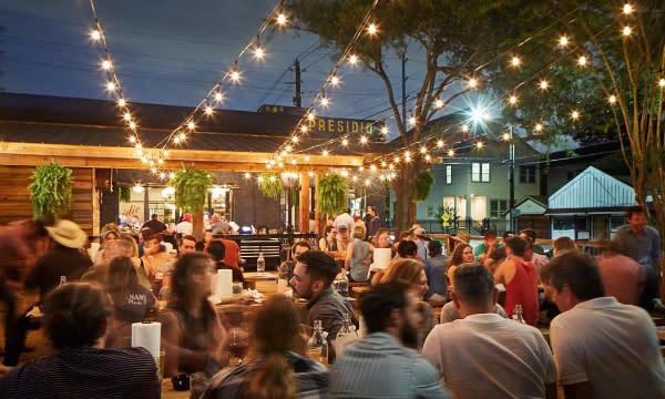 Presidio restaurant patio in Houston