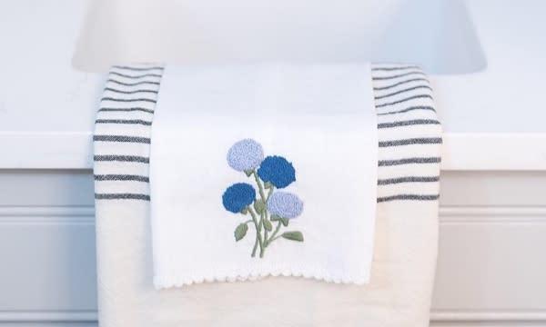 Hydrangea Hand Towel from Hibiscus Linens