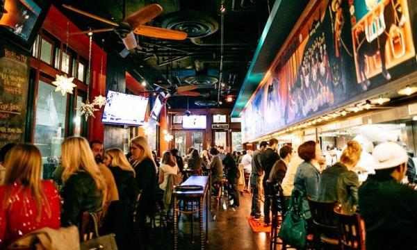 Customers eating at El Big Bad restaurant in Houston