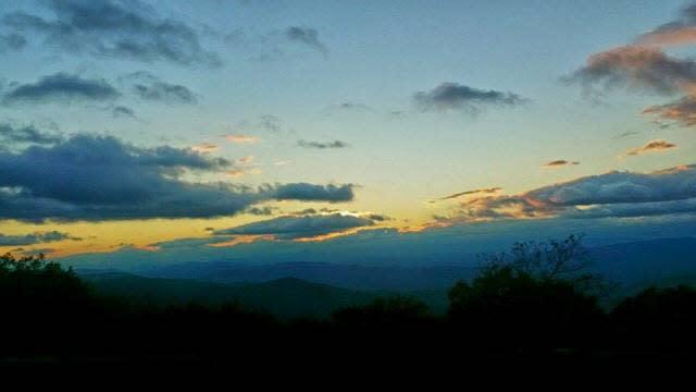 Blue Ridge Mountain Light - Fall Photo