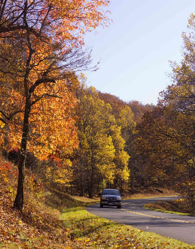 Truck Driving Fall - Blue Ridge Parkway Tips