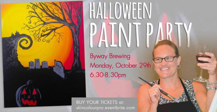 Byway Halloween Paint Party