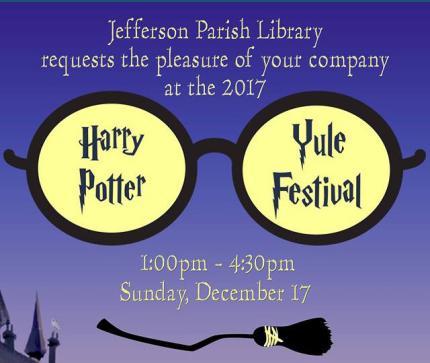 Jefferon Parish Library Harry Potter Yule Festival