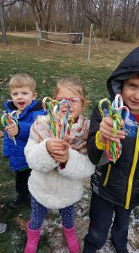 Candy Cane Hunt at Natural Valley Ranch (photo courtesy of Natural Valley Ranch Facebook page)