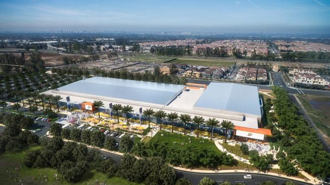 Aerial of Great Park Ice and Sports Complex in Irvine