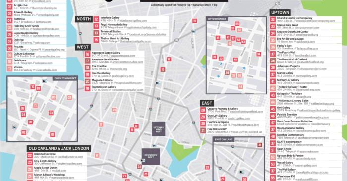 Oakland Art Murmur Map